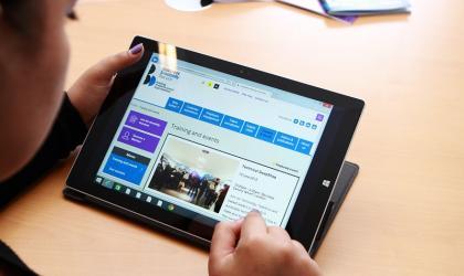 BDF website on tablet
