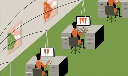 Employee Benefits Incentive Illustration ikon