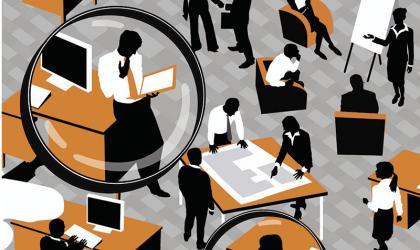 Trends Office Environment Illustration Ikon